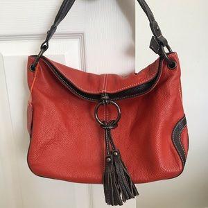 Cavalieri genuine leather embroidered purse